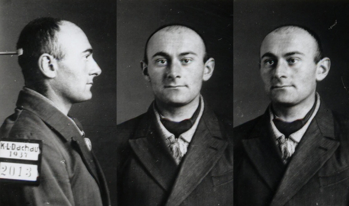 Three photographs put together to form a series, showing Benno Oppenheimer in profile, from the front, and in half profile.