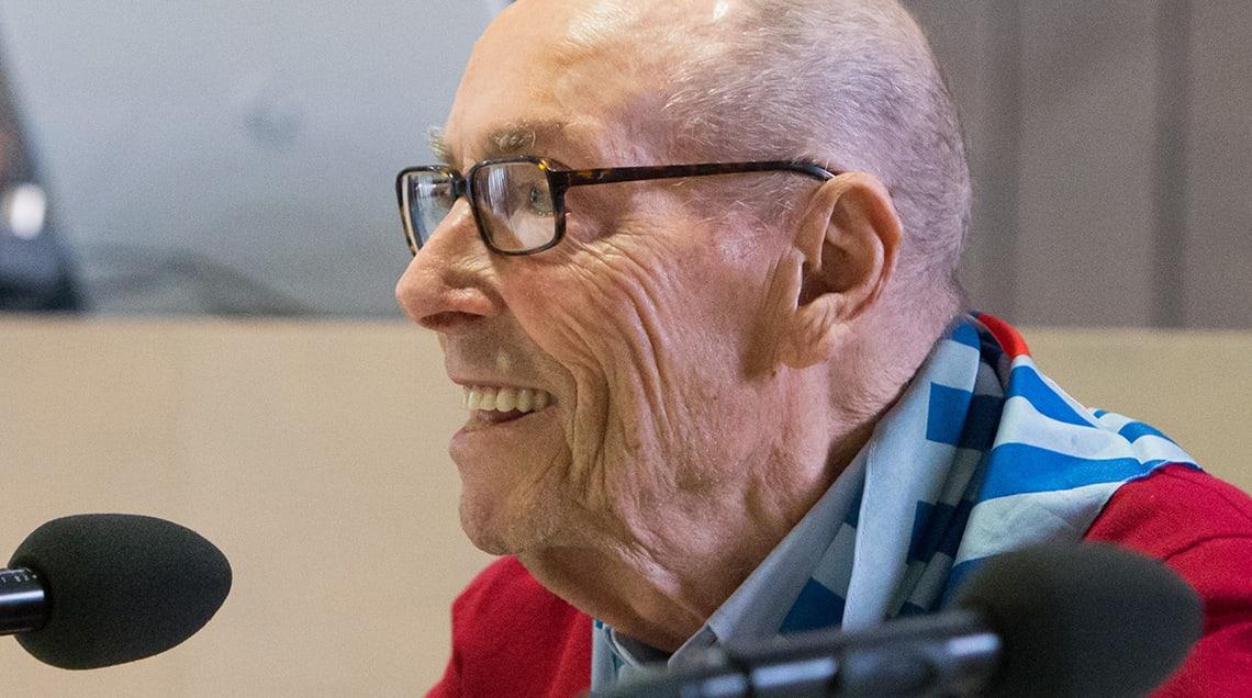 Venanzio Gibillini beim Dachauer Zeitzeugengespräch im April 2018