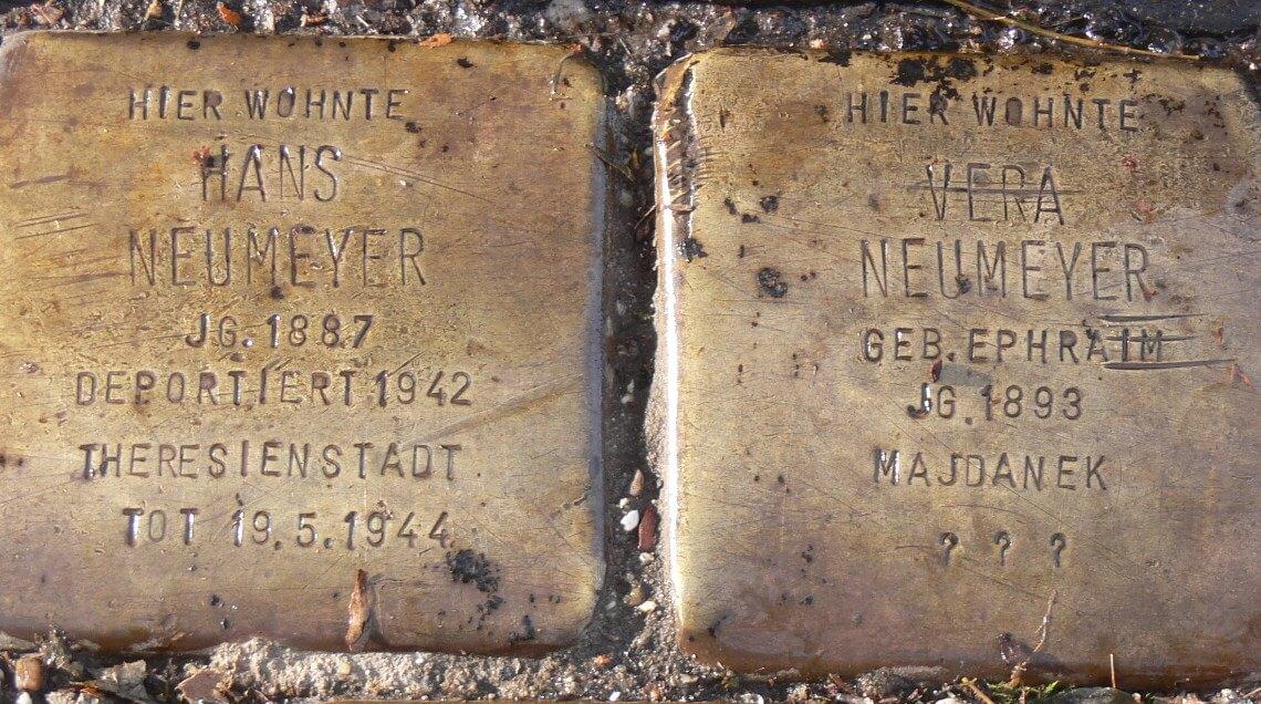 Stolpersteine für Vera und Hans Neumeyer