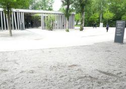 Vorgesehener Standort des Tastmodells gegenüber dem Besucherzentrum