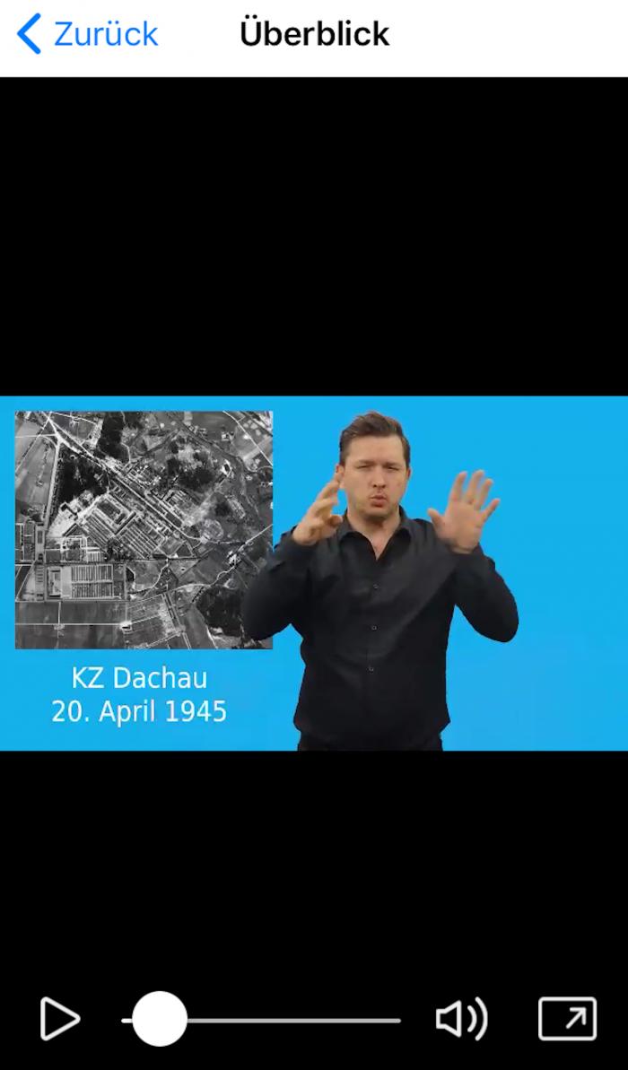 Appbild Beispiel Gebärdensprachvideo