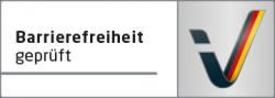 Logo Barrierefreiheit geprüft.