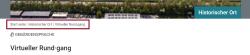 Screenshot mit markiertem Inhaltsverzeichnis unter dem Header der Website.