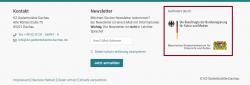 Screenshot Fußzeile mit markierten Förderern der KZ-Gedenkstätte Dachau.