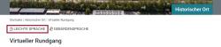 Screenshot mit markierter Sprachauswahl in Leichter Sprache.