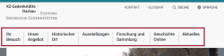 Screenshot markierte Menüleiste.