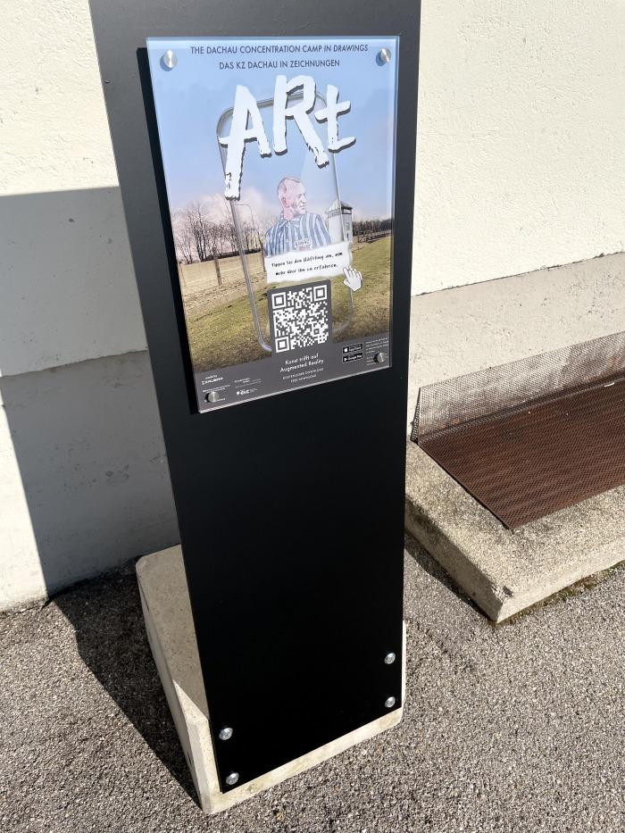 Aufsteller mit QR-Code Marker für ARt
